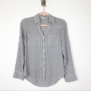 Express Portofino Shirt Stripe Blouse XS #0225